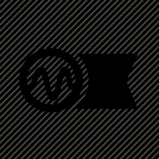 amplitude, electricity, flag, instrument, light, sine, wave icon
