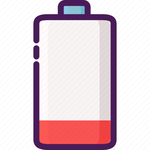 battery, devices, electrical, electricity, empty icon