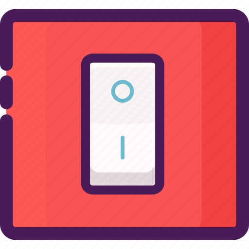 device, electrical, electricity, home, light, switch icon