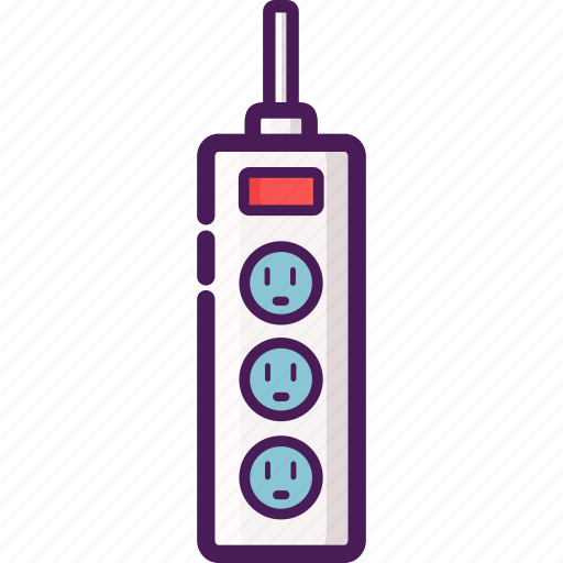 device, electric, home, power, strip icon