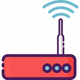 devices, electric, internet, router, wifi icon