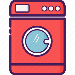 device, electric, home device, machine, washing icon