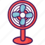 electric, electronic, fan, home device icon