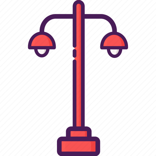 light, pole, street icon