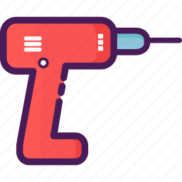 construction, device, drill, electronic, home icon
