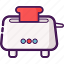 bread, device, electronic, home, toaster icon