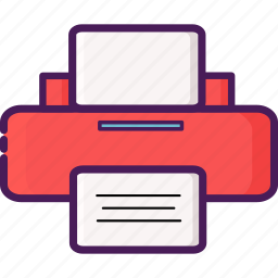 device, electric, home, office, printer icon
