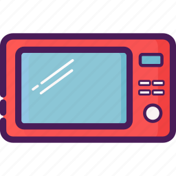 device, electric, home, kitchen, microwave icon