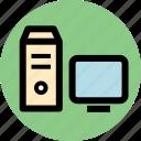 computer, desktop computer, personal computer icon