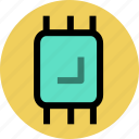 chip, electron, ic, microchip, processor icon