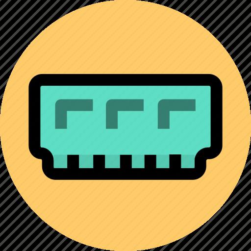 computer, electron, memory icon