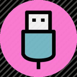 connection, data, electron, storage, usb icon