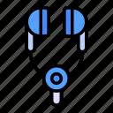 headphone, earphone, music
