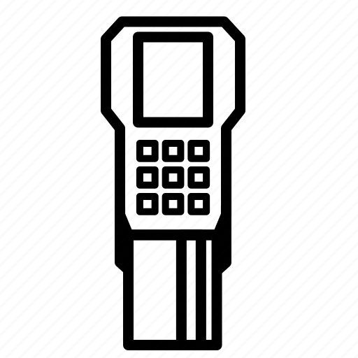 censor, chip, chip reader, electronic, mall, pin pads icon