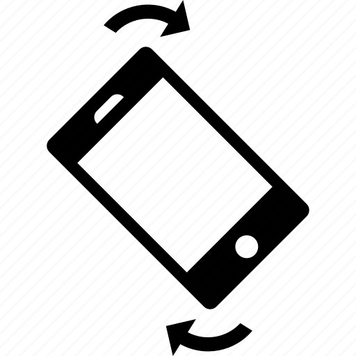Rotate, screen, phone, smartphone, device, electronic icon