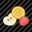 cartoon, design, electronic, flavor, fruit, juice, vape icon