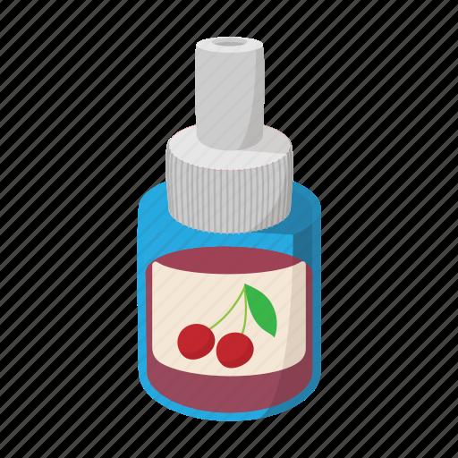 cartoon, cherry, electronic, flavor, fruit, juice, vape icon