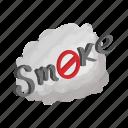 air, cartoon, cigarette, cloud, sign, smoke, tobacco icon