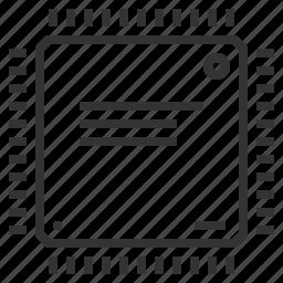 chip, computer, cpu, hardware, ic, microchip, microprocessor icon