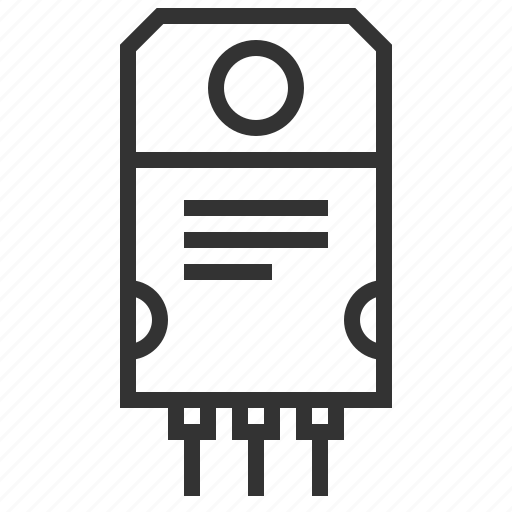 device, electronic, npn, semiconductor, technology, transistor, voltage icon