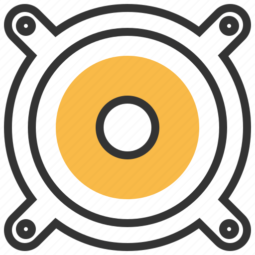 device, loudspeaker, multimedia, speaker, technology icon
