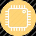 atmega, computer brain, microcontroller, microcontroller icon, microprocessor, ram icon