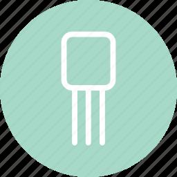 regulator, sensor, transistor, transistor icon, voltage regulator icon