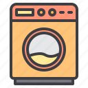 device, electronic, machine, technology, washing icon