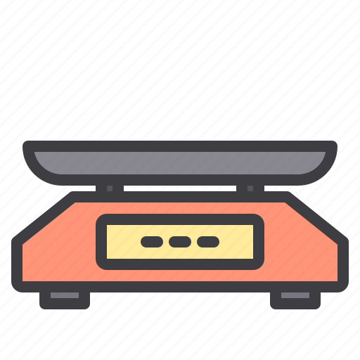 device, electronic, technology, weighing icon