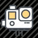 camera, devices, electronic, gopro icon, video, vlog icon icon icon