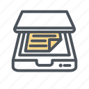devices, document, electronic, hardware, scan, scanner icon icon