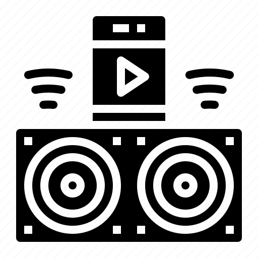 audio, loudspeaker, music, player icon