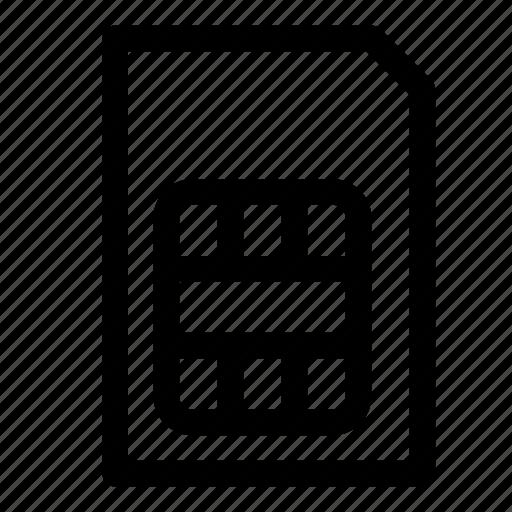 cellphone, micro sim, mobile, settings, sim, sim card, smartphone icon