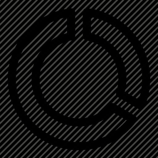 circle, diagram, donut, radial, statistics icon