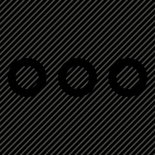dots, horizontal dots, interface, loader, menu, more, ui icon