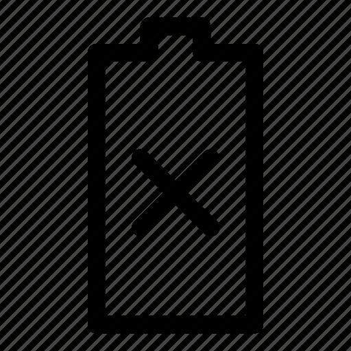 bettery, broken, dead, empty, low, none, power icon