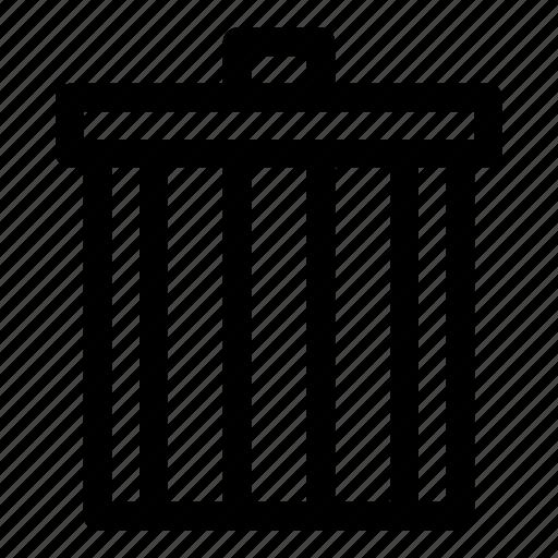 delete, drop, remove, trash, trash can, waste icon