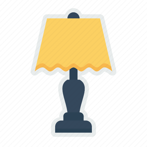 bed, electric, interior, lamp, light, nightstand, table icon