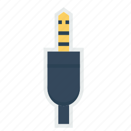 cable, headphone, jack, listen, sound, wire icon