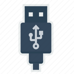 cable, charging, connector, data, device, plug, usb icon