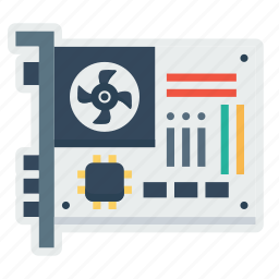 card, circuit, component, device, hardware, motherboard, parts icon