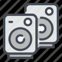 speaker, sound, music, play, multimedia, media, audio