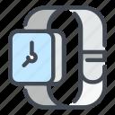 smart, watch, wrist, hand, clock, device, time