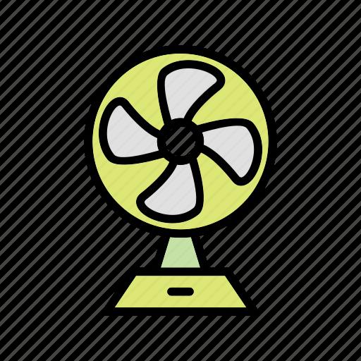 charging fan, electric fan, pedestal fan icon