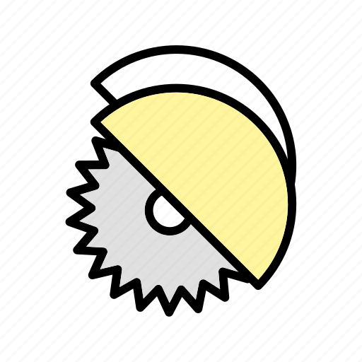 cutter, saw, wheel disc icon
