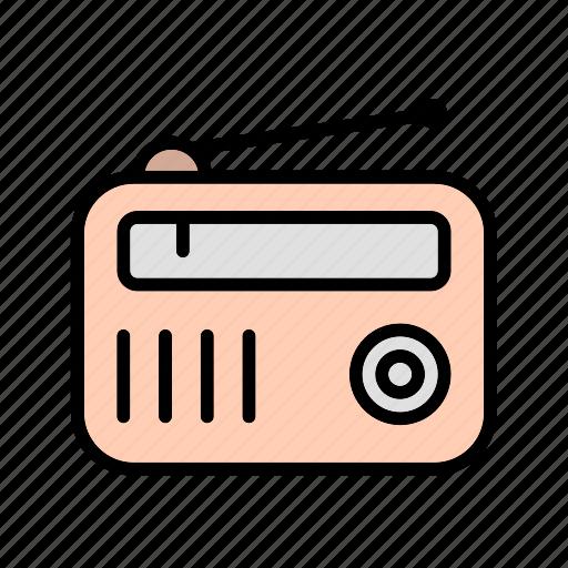 fm radio, radio, radio set icon