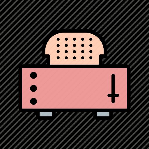 slice toaster, toast, toaster icon