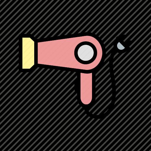 blower, hair dryer, salon icon
