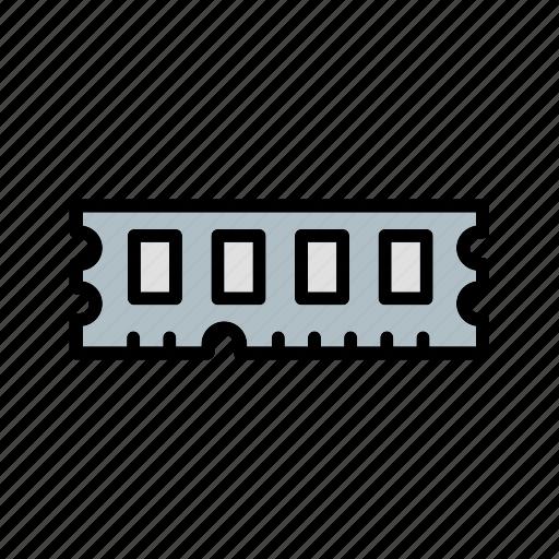 memory, ram, random access memory icon