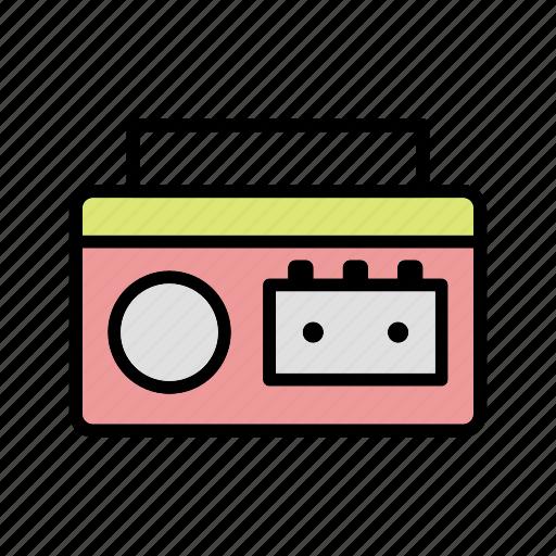 audio, cassette player, radio icon